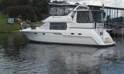 SALE PENDING 1999 Carver 406 Motor Yacht Sweet Jacqleen is a freshwater only 406 Carver that shows caring ownership and care since new. She has about 780 hours on twin Mercruiser 7.4l MPI's with a very clean engine room. She is equipped with Teak