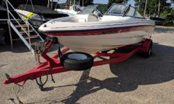 Nice used fresh water boat18' Chaparral powered with a Volvo 190 HP plenty of power to pull the kids on skis or tow toys. This boat has a Matching bunk trailer, bow cover, cockpit cover, and stereo this little package at this price and condition should