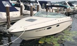 The Chaparral 2835 Limited Edition is a great entertainer with plenty of topside deck space and a great cuddy below able to accommodate two comfortably for a weekend stay. Powered by a 7.4 Liter Efi Mercruiser Bravo III with just under 800 hours, this