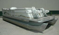 1999 Crest 22' Savannah Gold Pontoon Powered by a 2014 Evinrude 60 E-TEC this pontoon will give you years of trouble free boating. Equipped with 2 pedestal fishing chairs on the bow, it is set up for a day of cruising or fishing. Your family and friends