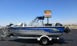 This boat comes with everything: boat bumpers, fire extinguisher, 4 life jackets, anchor, Minnkota Bow Mount Trolling Motor, downrigger pads, Lowrance fishfinder, and Scotty pole holders. There is too much to list! ? New Boat Cover ? 175 hp fuel injected