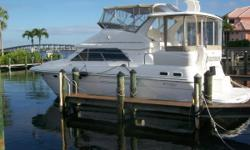 Ready to Take You to All Your Dream Destinations!! Very Rare Twin Diesel Model Just Buffed and Waxed Bottom Stripped and Barrier Coated New Refrigerator New Carpeting Throughout Sunshine is a contemporary aft-cabin motor yacht with beautiful lines and for