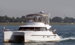 The Maryland 37 has a long cruising range and a hull form that provides exceptional seagoing qualities. This type of trawler enables one to cover 1000 nautical miles at nine knots. Her two hulls and two engines provide great stability for anchoring and