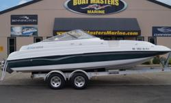 SOLD 1999 FOURWINNS 234 candia Beam: 8 ft. 6 in. Hull color: Green/White Stock number: used43212