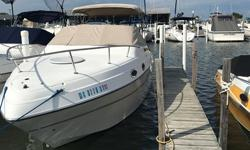 Very popular Mid-Cabin Express, great way to start Marina Boating. Quality built and full of amenities. Call for a showing. Trades considered. CANVAS BIMINI TOP CAMPER CANVAS COCKPIT COVER (TAN) DECK ANCHOR W/LINES TRANSOM SHOWER WALK-THROUGH WINDSHIELD
