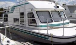 1999 Gibson 37 Sport Houseboat Used 1999 Gibson 37 Sport Series Two New Bilge Pumps Sleeps 4 To 6 People Comfortably 3 New Batteries Engine And Generator Have Been Completely Rebuilt 90 Hours On The Engine 350 HP Twin Inboard Out Board Engine Its Docked