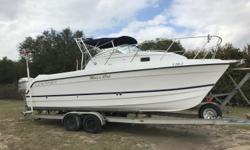 For sale is a 1999 Glacier Bay Island Runner 2670. The boat has twin Honda 130 HP motors. The port engine has a blown power head. The starboard engine runs good. We can re-power this boat for you, we are a Mercury and Yamaha dealer in Pensacola, FL. Thank