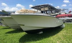Very clean 1999 Grady-White Bimini 306 center console.  Boat has newer 2010 Yamaha F250XCA 250HP 4 stroke engines with under 800 hours.  12 inch Simrad MFD.  Fresh and raw water wash downs.  T top with newer canvas and electronics box,