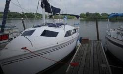 Actual Location: Raymond, NE - Stock #092468 - Excellent condition! Brand new motor!!The 1999 Hunter 260 has a water ballast and the swing mast allows for lower and lighter towing. A kick up rudder and swing keel allows for safe lake sailing giving a