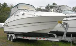 Subject: 1999 Larson 240 Cabrio...On site Brokerage Here is a trailerable pocket cruiser from Larson Boats! This cruiser is equipped with all the dockside and shore power amenities to make your stay out on the water feel like home away from home! Whether