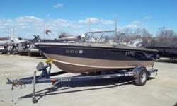 1999 Lund 1700 Pro Sport deep V equipped with Mariner 115 hp outboard motor and Motor Guide 750 Brute 12 V trolling motor with 45 lbs. thrust. Boat includes strap cover, livewell, radio, 4 fishing seats and single axle trailer. 6 person capacity. Please