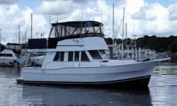 This 1999 Mainship 390 is in nice condition, and just had the 1000 hour Caterpillar service. She has been carefully maintained, and has detailed records available for the last 10 years. She boasts an extended flybridge full enclosure, and a