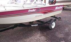 One owner In fair to good condition Boat is sound and motor runs great Cusions are weathered Trailer Beam: 5 ft. 7 in. Hull color: Red