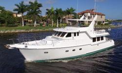 The perfect long range yacht for the discerning cruising couple! Well maintained and super clean! Loaded with cruising features! Heavily built and engineered for redundancy and confidence at sea.The Nordhavn 57 is unlike any other long range yacht her