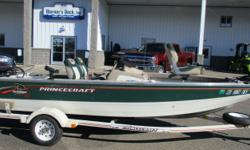 1999 PrinceCraft 162 Pro Series 2006 Evinrude 50hp ETEC, Bunk Trailer, Spare Tire, Load Guides, MinnKota 12 volt Trolling Motor, On Board Charger, Humminbird 788 Sonar/GPS Depth Finder @ Dash, 3 Fishing Seats, Radio, Manual Anchor, Cover.