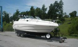 1999 Rinker 242 FIESTA VEE The 242 Fiesta Vee is a locally owned super nice pocket cruiser wit hall the right options that has a Mercruiser 5.0 inboard/ outboard engine with 220 horse power backing that will have you on the water with ease. Plus it comes