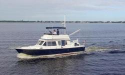 This Beauty is Powered By Twin 300Hp Caterpillar Diesels, GPS-Radar-Autopilot, 6kW Northern Light Generator, 16,000BTU Marine A/C, Good Bottom, 15 knot Cruise, This is a Nice One, Do Not Miss, This is only 1 of 4 in the USA. Update: New Drone Photos,