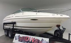 Go directly to our Midway web site for much more info and pictures. www . midway auto and marine . com WE TAKE TRADES!! FINANCING AVAILABLE!! ALL BOATS COME WITH WARRANTY!! Only 2 owners! Way low hours!! Super super clean