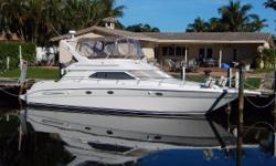 The versatile 450 Express Bridge was designed for luxurious and comfortable cruising, and has a 3 stateroom layout. Maeva is well maintained, and is well equipped. She has a sportsman package to give her added versatility. Some of her