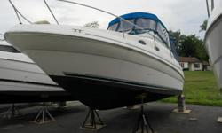 1999 Sea Ray Sundance 24Mercruiser 5.0 liter with Alpha drive380.4 HrsClarion Marine Stereo with speakers, Ritchie compassStove, refrigerator, water heater, shore powerHead with beside sink, Comfort dining tableCamper canvass with new double biminiBrand