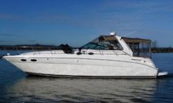 Not your typical 38 Sundancer! Look closely. Not only has this boat been BOATHOUSE KEPT in FRESH WATER for the past 13 years, she got BRAND NEW CRATE ENGINES and Transmissions in 2010 installed by the local Sea Ray dealer to the tune of $60K! These aren't