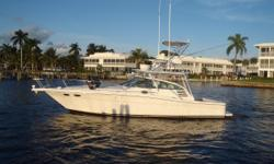 The 370 Express Cruiser was an effort by Sea Ray to develop a serious, tournament-level fishing boat. In that regard, she followed the approach Tiara so successfully pioneered with their 3600 and 3700 Open models. A top quality express with a big,