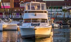 Although Silverton built many Aft Cabin Motor Yachts, there were very few Cockpit Motor Yachts produced.. As you probably know the primary advantage in an Aft Cabin is that the Master Cabin is a full beam width cabin, allowing a much larger bedroom than