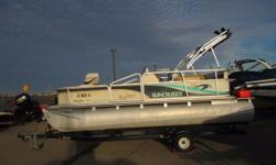 Just arrived to our lot is the 1999 Suncruiser Malibu 181 by Lowe Boats! This previously enjoyed pontoon boat is the perfect starter boat for the budding water enthusiast on a budget! At only 18 feet long, it's easy to tow to the boat ramp. Plus, it's