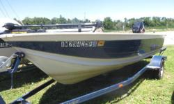 Price includes a Mercury 40ELPTO two stroke, Trailer, Minnkota trolling motor, fish locator and batteries. Sale Price $4,499.00 Nominal Length: 16.2' Length Overall: 16' Engine(s): Fuel Type: Other Engine Type: Outboard Beam: 7 ft. 8 in. Fuel tank