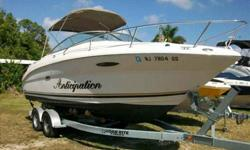 2003 Sea Ray 225 WEEKENDER Recently brought down from the North. This 2003 Sea Ray 225 Weekender, one of the largest cuddy cabins built. Nice boat with appx 100 hours on her 5.0L 260hp Mercruiser coupled with Bravo 3 Stern Drive delivering optimal