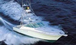 """2010 Cabo Yachts 45 Express This Cabo 45 Express comes with new boat warranties. Tower and outriggers are """"Clear Koted"""" for protection from the elements. All MAN services are up to date. Complete services including coolers and heat exchangers serviced"""