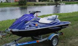 2007 Yamaha VX Deluxe WaveRunner PWC with Reverse. 3 seater with New Hydra-Turf Seat. Has the ability to pull a water skier/tubes as well. Seat is comfortable for a day on the water. MOTOR: 2007 Yamaha 110HP Four Stroke Motor that Runs Excellent. 1052 CC.
