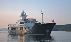 """RemarksThe name """"ROMSDAL"""" has always been synonymous withthe highest quality North Sea trawlers. Originally built in 1962 Discovery was completely refit from 1996 through 2000 for a reportedtwelve million dollars. The refit or more accurately rebirth was"""