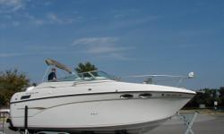 2000 Crownline 242 CR 5.7 Mercury w/ Bravo III Duoprop I/O. Driver Bench Seats, Passenger Lounge, Rear Seat, Range, Sink, Water Heater, Microwave, Refrigerator/Freezer, Enclosed Marine Head W/ Shower, Aft Cabin, V Berth, AM/FM/ CD, Dual Batteries with