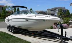 2000 rinker 272 captiva millenium edition - great family boat. upgraded 310hp 7.4L fuel injected V8 mercruiser with silent choice exhaust ($2000 option). Bravo 3. Dual counterrotating stainless steel props. 10 disc CD stereo. Fridge, wetbar, fresh shower