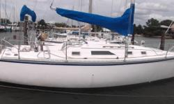 This is a great diesel 31ft Hunter priced below 20,000. The Hunter 31 is a sloop rig with a shoal draft keel, spade rudder and a deck stepped mast. The interior has a v-birth cabin, private head, convertible dinette, wrap around galley, nav station, and a