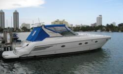 "Category: Powerboats Water Capacity: 104 gal Type: Express Cruiser Holding Tank Details:  Manufacturer: Trojan Holding Tank Size: 88 gal Model: 440 Passengers: 0 Year: 2000 Sleeps: 0 Length/LOA: 44' 0"" Hull Designer:  Price: $140,000 / €107,585"