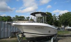 NEW INVENTORY 2000 Aqua Sport 205 Osprey CC This is a Clean 22ft CC that has nice equipment & is ready for the water, so act fast! This boat comes w: Johnson 200 hp Ccean Pro 2 stroke T-Top w/ Canvas Console Cover Dual Battery w/ Switch Garmin 182