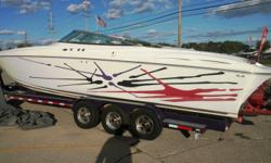2000 Baja 342 with twin Mercruiser 500 race engines and triple axle trailer. 70+ MPH. Beautiful boat. For additional information call us today at 800-875-2620 and select the location nearest you or view Michigan's largest selection of boats direct only at