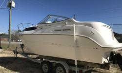 For sale is a 2000 Bayliner 2455 Ciera Sunbridge. This boat is very nice and clean! It comes equipped with a 2015 Mercruiser 357. The boat has been well kept and maintained all its life. A 2001 Performance trailer is also included with the boat. some