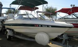 You?ll love the power of this 220hp 5.0ltr Mercruiser I/O in this 2000 Bayliner 21? open bow! It?s got a bimini, stainless steel propeller, tilt steering, swim deck, galvanized steel trailer and much more. When you buy at Cowboys RV Marine, you?ll always
