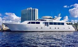 Four stateroom layout with VIP forward,full-width Master and two Guest Staterooms amidships. Private entry to Crew Quarters aft. Preferred 3412 Cat engines. Approximately $1 million spent on upgrades and updates in 2016 and 2017. NO VACANCY is
