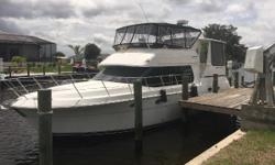 Owner wants this boat gone! A fantastic diesel yacht is available at a great price! Brand new canvas all around.Just over 500hours. 522 Hours on Generator. Boat runs great and is very mechanically sound. Roomy interior, no moldy smell. Perfect