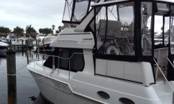 2000 Carver 326 Aft Cabin Yacht The Happy Hour is a well maintained vessel with low hours for a 2000 model year. Sleeps six and is equipped with a full galley including microwave two burner electric cook top with oven and reefer with freezer. One double