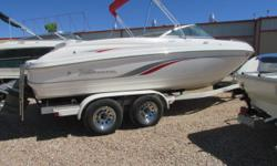 2000 Chaparral 216 SSI with Volvo 5.7 GSI dual prop. Very clean boat, would make a great starter or Lake Powell boat! Please contact our sales department for more info.