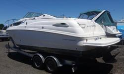 **** JUST REDUCED TODAY10/15/18, BY $5,000, BUY NOW FOR $22,500.00 ****In Stock, 2000, CHAPARRAL, 260 Signature, Fiberglass, White, Beam: 8'6', Dry Weight: 5977 lbs., Mercruiser, I/O, 350, 250 HP, MPI, Motor, HOURS: 532, Tandem, Trailer Included.2016,
