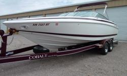 2000 Cobalt 252sc, immaculate condition, meticulously maintained, all available factory options (too many to list). Upgrades: 650hp supercharged 502 mag. (dealer installed). Boost, fuel pressure and water pressure instrumentation. Switched electric pump