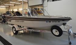 Mercury 125ELPTO Shorelandr Roller Trailer Lowrance LC X-15 MT Uniden Solara AquaTronics Stereo 4 Pedestal Fishing Seats Bimini Top Snap-On Cover Beam: 7 ft. 11 in.