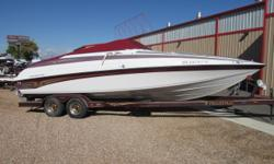 2000 Crownline 266 CCR with Mercruiser 7.4 MPI 310 HP & Bravo Three Dual Prop outdrive. Nice little Cuddy with a low 234 hrs. Spacious cockpit with room for the whole family and inviting cuddy with head, stove and sink. Please contact our sales department