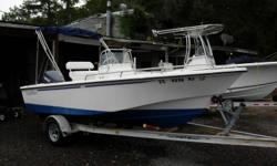 17Ft. Center Console, 2000 115HP Yamaha 115TLRY, Bimini Top, New Stereo, Dual Batteries with Switch, Leaning Post, SS Prop, 2000 Magic Tilt Trailer, Above Average Condition Beam: 7 ft. 3 in. Stereo; Bimini top;